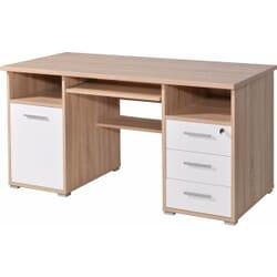Dexia skrivebord - Eg/Hvid