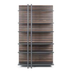 Berdino bogreol - Valnøddetræ/metal